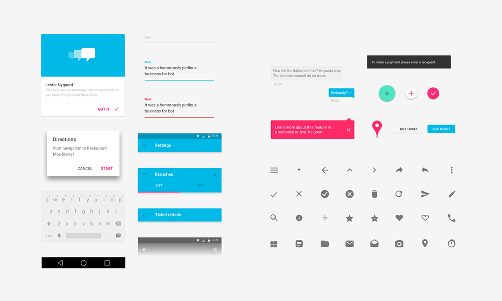 some of the myriad of available UI elements