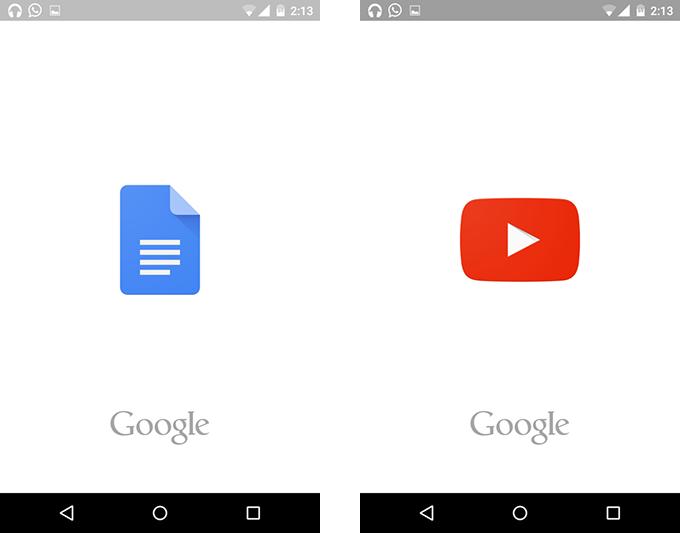 Google splashscreens