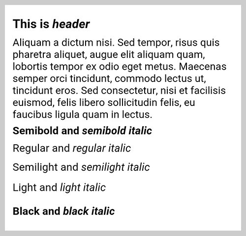 Android needs a special sans-serif-light values to display light fonts.