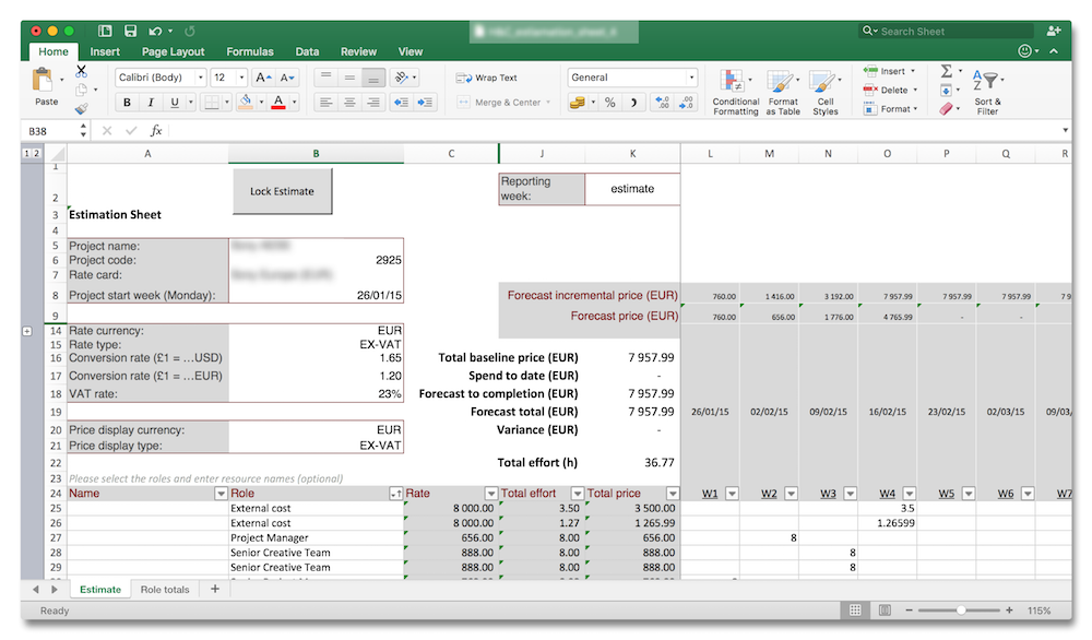 solid budget planning and tracking template